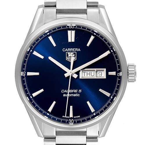 Photo of Tag Heuer Carrera Calibre 5 Day Date Steel Mens Watch WAR201E