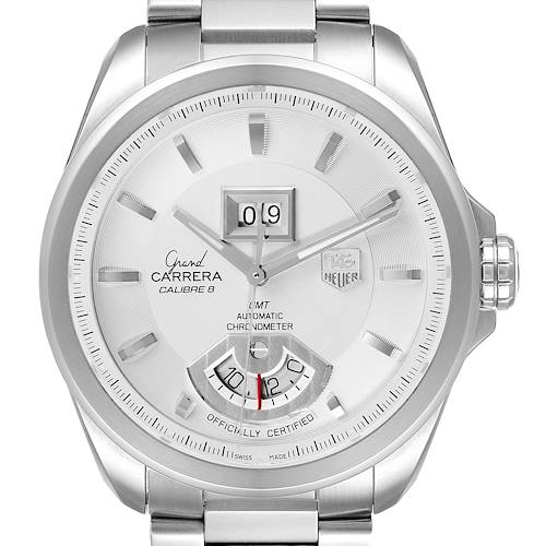 Photo of Tag Heuer Grand Carrera GMT Chronograph Silver Dial Mens Watch WAV5112