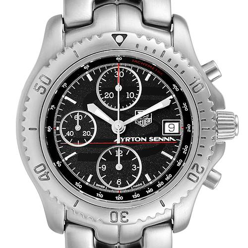 Photo of TAG Heuer Link Steel Black Dial Chronograph Mens Watch CT2114 Card