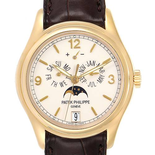 Photo of Patek Philippe Complicated Annual Calendar Yellow Gold Mens Watch 5146