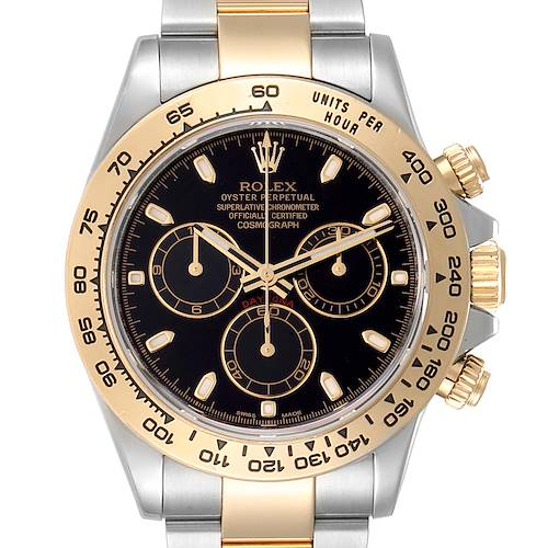Photo of Rolex Cosmograph Daytona Black Dial Steel Yellow Gold Mens Watch 116503