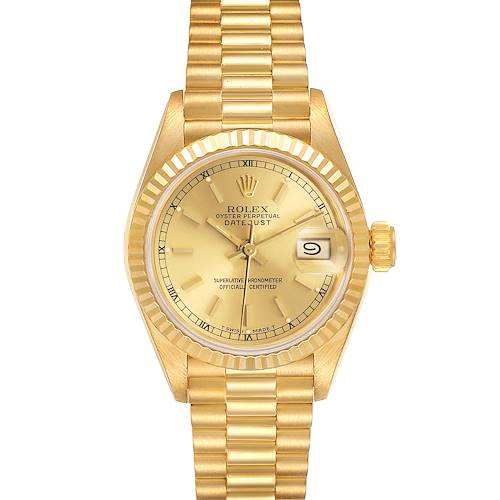 Photo of Rolex President Datejust 18K Yellow Gold Ladies Watch 69178 ~ PARTIAL PAYMENT