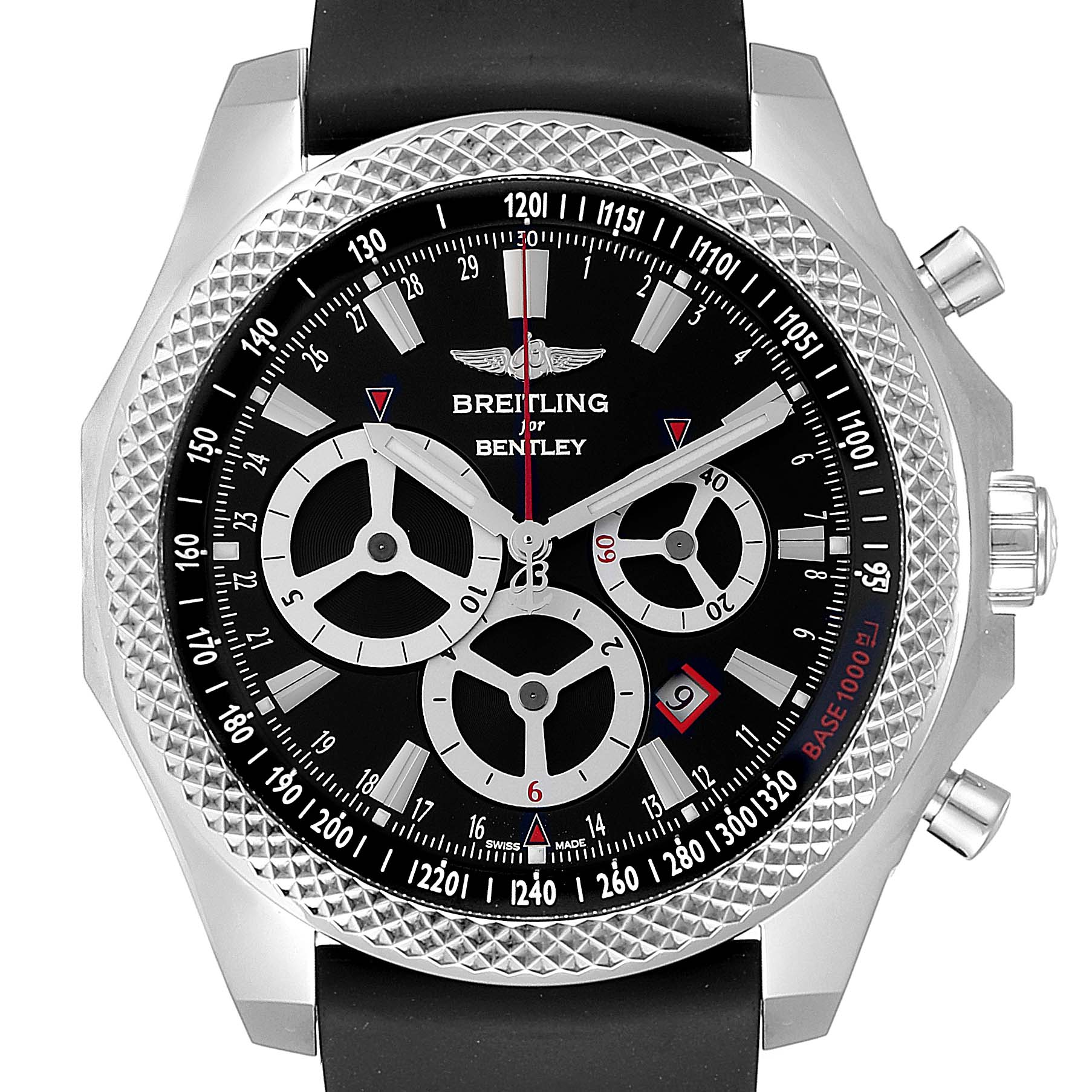 Photo of Breitling Bentley Barnato Racing Black Dial Mens Watch A25366