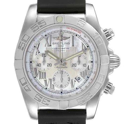 Photo of Breitling Chronomat 01 MOP Dial Steel Mens Watch AB0110 Box Papers