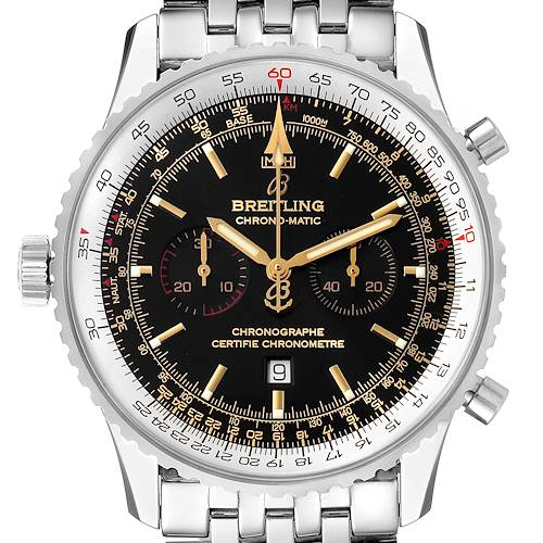 Photo of Breitling Chronomatic Limited Edition Steel Mens Watch A41350 Box Papers