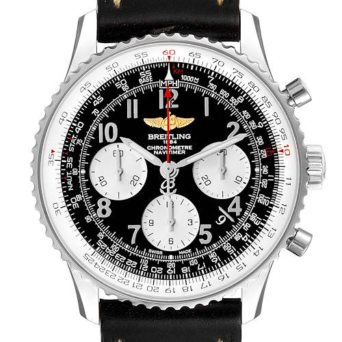 Photo of Breitling Navitimer 01 Black Strap Automatic Mens Watch AB0120 Box Papers
