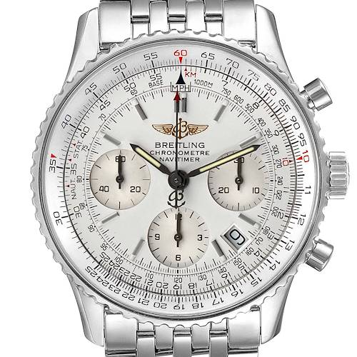 Photo of Breitling Navitimer Chronograph Silver Dial Steel Mens Watch A23322