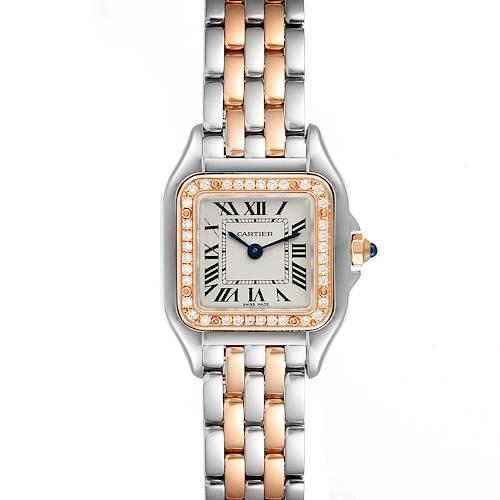 Photo of Cartier Panthere Ladies Steel Rose Gold Diamond Watch W3PN0006 Box Papers