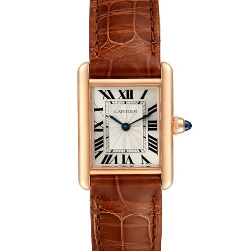 Photo of Cartier Tank Louis 18k Rose Gold Mechanical Ladies Watch WGTA0010 Box Card