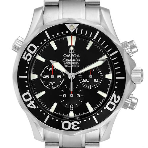 Photo of Omega Seamaster Chronograph Black Dial Watch 2594.52.00 Card