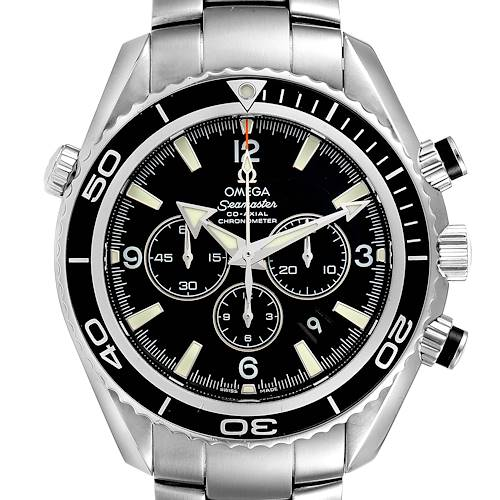 Photo of Omega Seamaster Planet Ocean Chronograph Steel Watch 2210.50.00 Box Card