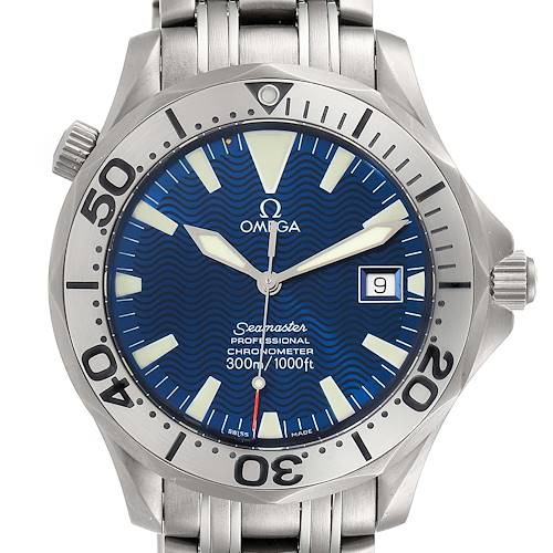 Photo of Omega Seamaster Titanium Blue Dial Mens Watch 2231.80.00