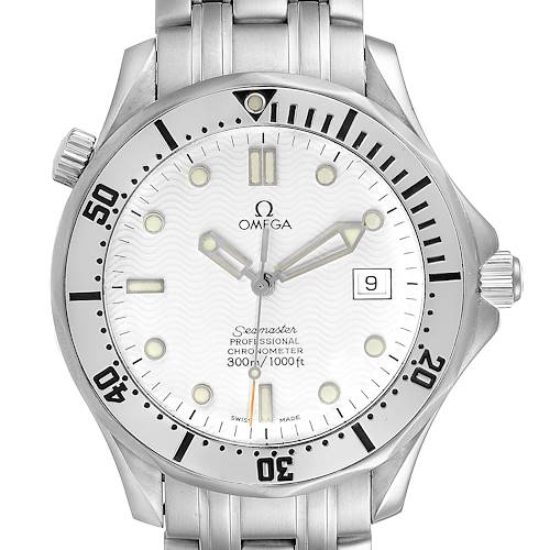 Photo of Omega Seamaster White Wave Decor Dial Steel 300m Watch 2532.20.00