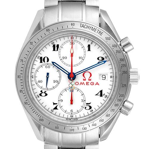 Photo of Omega Speedmaster White Dial Chronograph Watch 323.10.40.40.04.001 Card