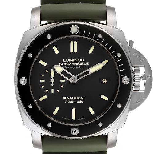 Photo of Panerai Luminor Submersible 1950 Titanium Amagnetic Watch PAM00389 Box Papers