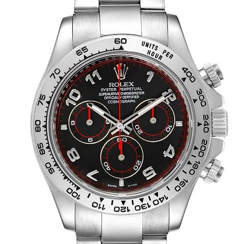 Photo of Rolex Cosmograph Daytona 18K White Gold Black Dial Mens Watch 116509