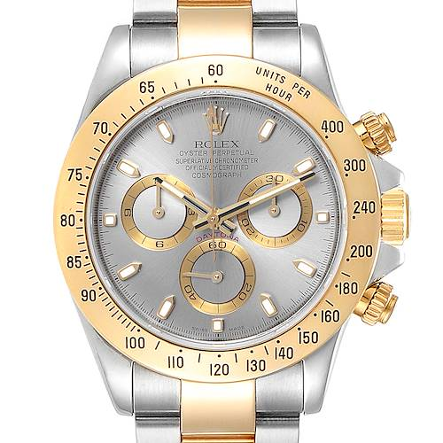 Photo of Rolex Daytona Steel Yellow Gold Slate Dial Mens Watch 116523 Box Papers