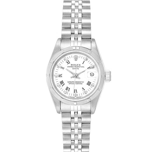 Photo of Rolex Oyster Perpetual White Dial Steel Ladies Watch 69190