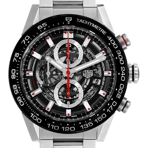 Photo of TAG Heuer Carrera Caliber Heuer 01 Skeleton Mens Watch CAR201V