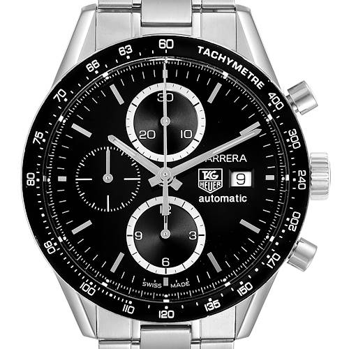 Photo of Tag Heuer Carrera Tachymeter Chronograph Steel Mens Watch CV2010