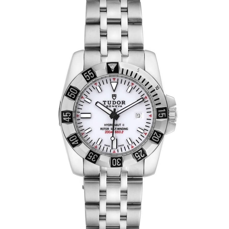 Tudor Hydronaut II Stainless Steel Lavander Dial Ladies Watch 24030 Unworn SwissWatchExpo