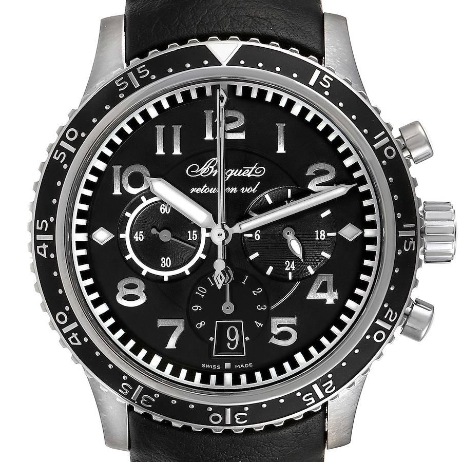 Breguet Transatlantique Type XXI Flyback Titanium Watch 3810 Box Papers SwissWatchExpo