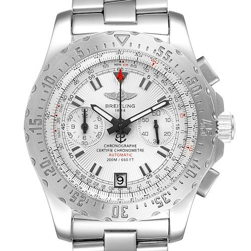 Photo of Breitling Professional Skyracer Silver Dial Steel Mens Watch A27362 Papers