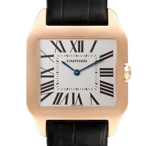 Photo of Cartier Santos Dumont Mens 18k Rose Gold Mens Watch W2006951