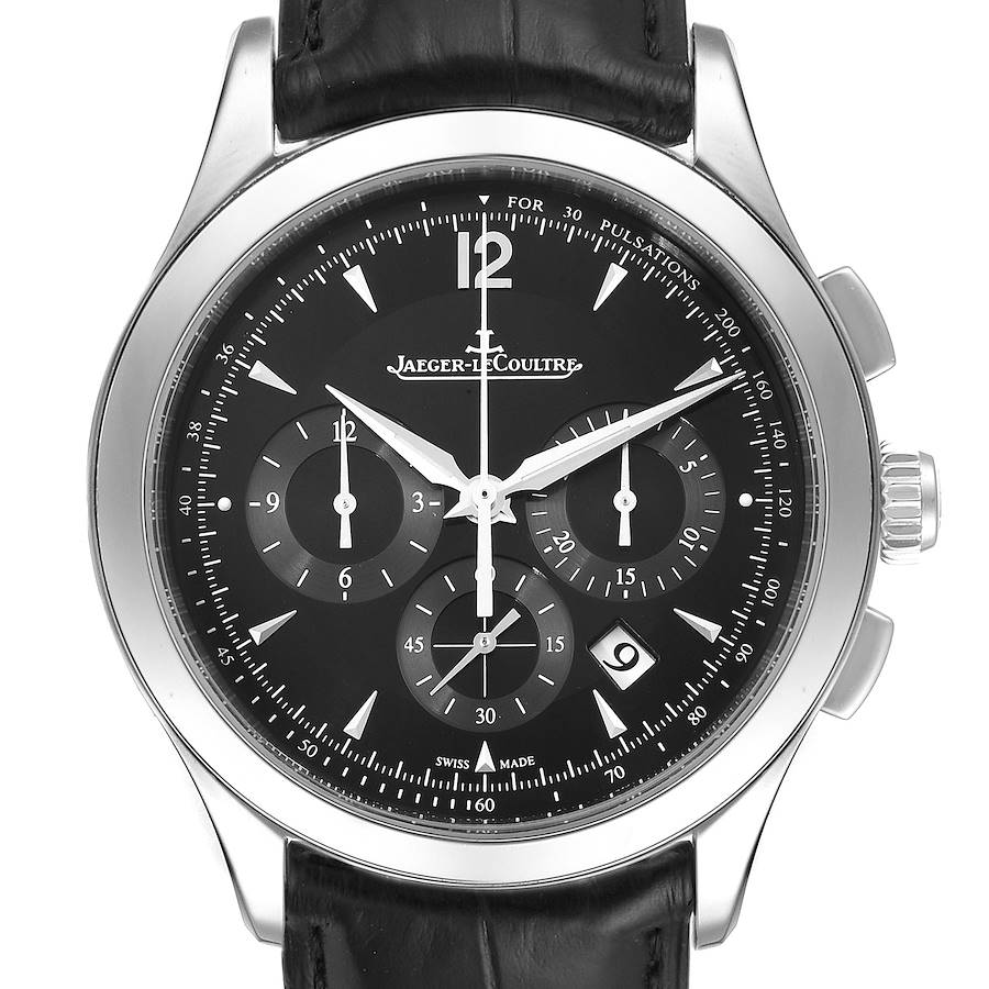 Jaeger Lecoultre Master Chronograph Mens Watch Q1538470 Box Papers SwissWatchExpo