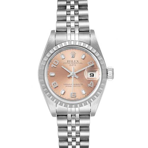 Photo of Rolex Date Salmon Dial Jubilee Bracelet Ladies Watch 79240