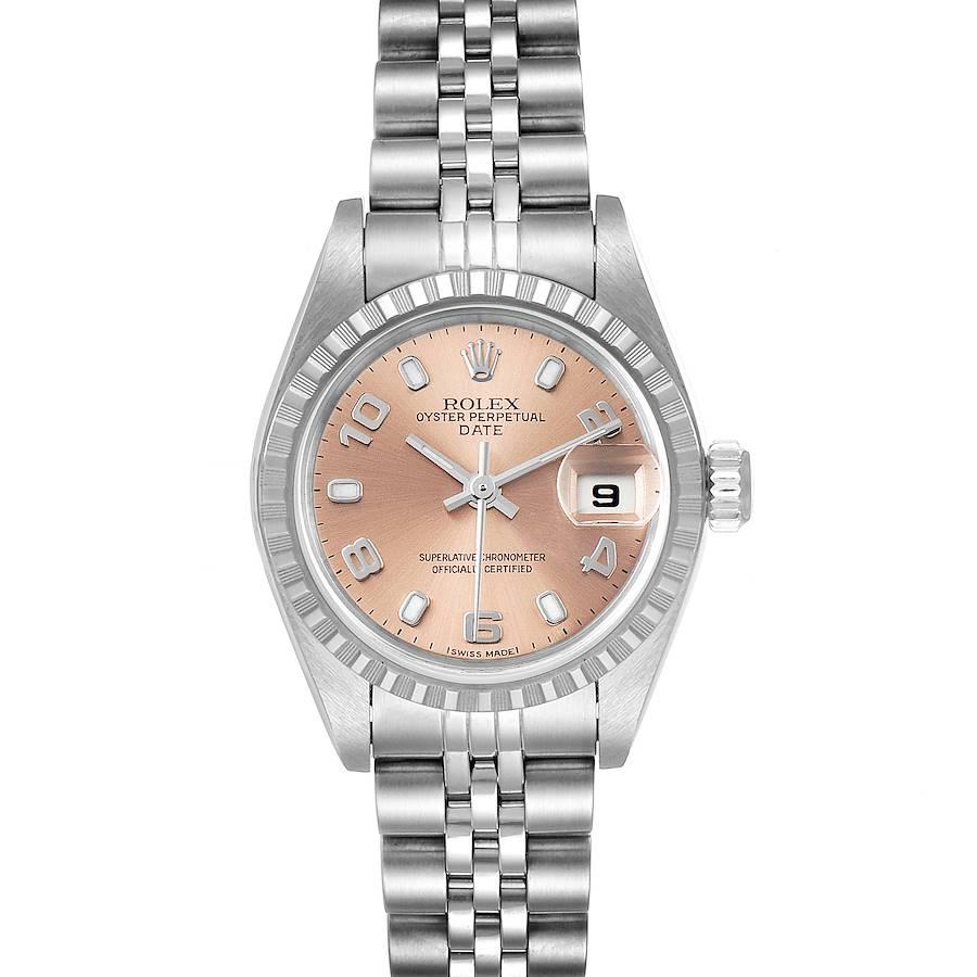 Rolex Date Salmon Dial Jubilee Bracelet Ladies Watch 79240 SwissWatchExpo