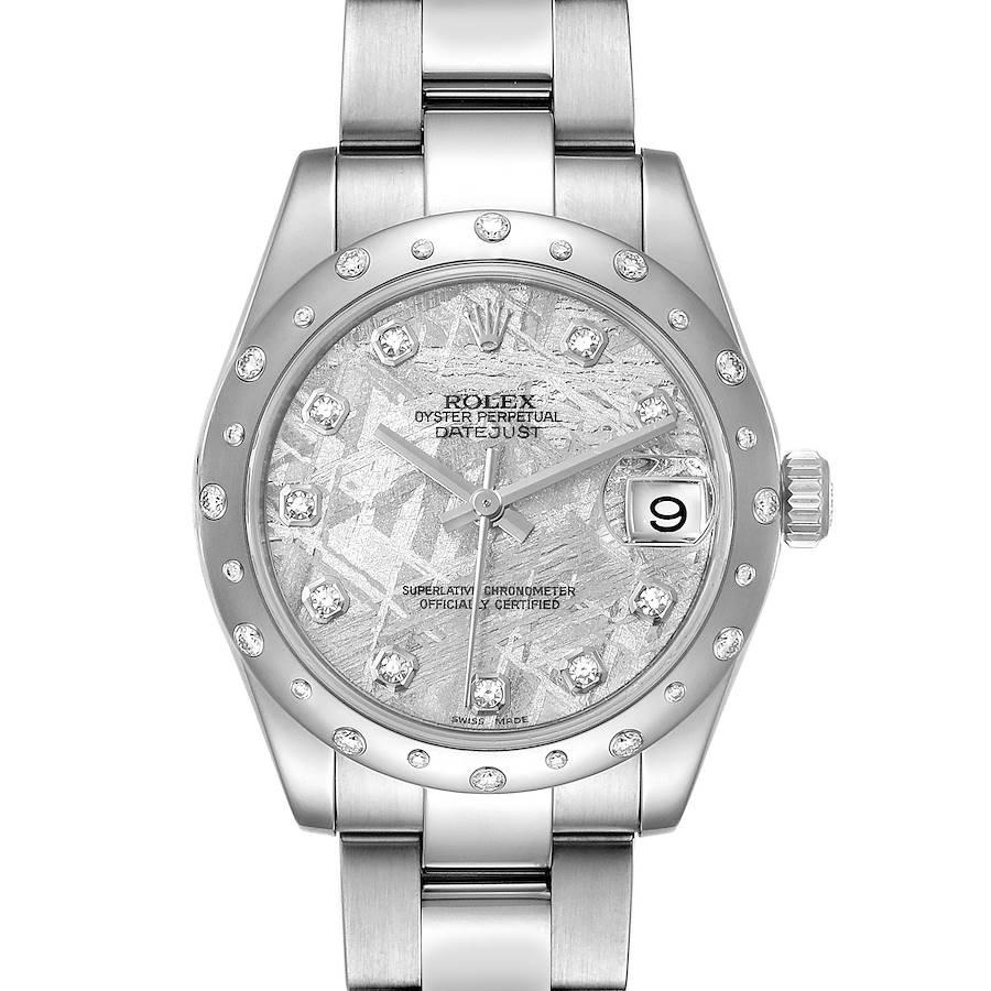 Rolex Datejust Midsize Meteorite Diamond Dial Ladies Watch 178344 SwissWatchExpo