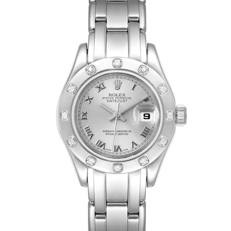 Rolex Pearlmaster White Gold Silver Dial Diamond Ladies Watch 69319 SwissWatchExpo