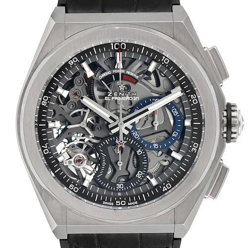 Photo of Zenith Defy El Primero 21 Chronograph Titanium Mens Watch 95.9000.9004