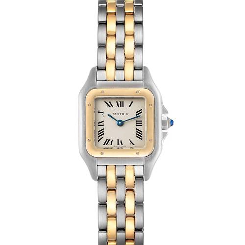 Photo of Cartier Panthere Ladies Steel Yellow Gold 2 Row Ladies Watch W25029B6