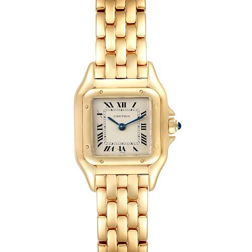 Photo of Cartier Panthere Small Yellow Gold Silver Dial Ladies Watch W25022B9