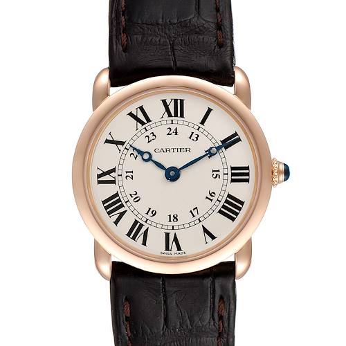 Photo of Cartier Ronde Louis 18K Rose Gold Silver Dial Ladies Watch W6800151