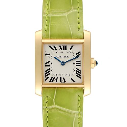 Photo of Cartier Tank Francaise Midsize Yellow Gold Ladies Watch W5000356 Box Papers