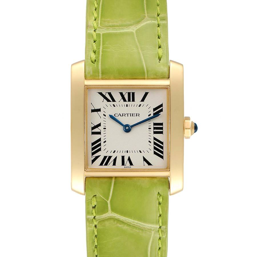 Cartier Tank Francaise Midsize Yellow Gold Ladies Watch W5000356 Box Papers SwissWatchExpo