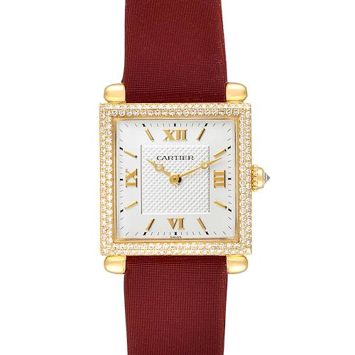 Photo of Cartier Tank Obus 18k Yellow Gold Diamond Ladies Watch WB800351 Box Papers