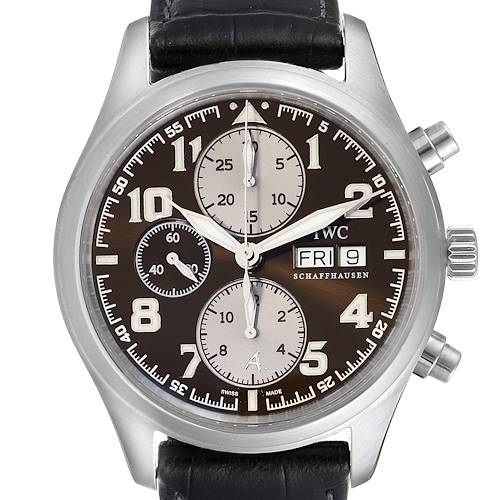 Photo of IWC Spitfire Pilot Saint Exupery Limited Edition Mens Watch IW371709 Card