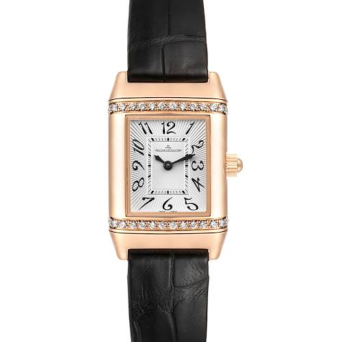 Photo of Jaeger LeCoultre Reverso 18k Rose Gold Diamond Ladies Watch 256.2.86