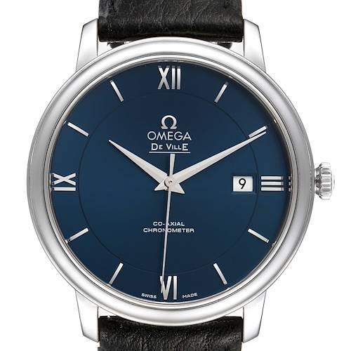 Photo of Omega DeVille Prestige Blue Dial Steel Watch 424.13.40.20.03.001 Box Card