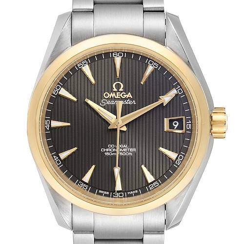Photo of Omega Seamaster Aqua Terra Steel Yellow Gold Watch 231.20.39.21.06.004 Card
