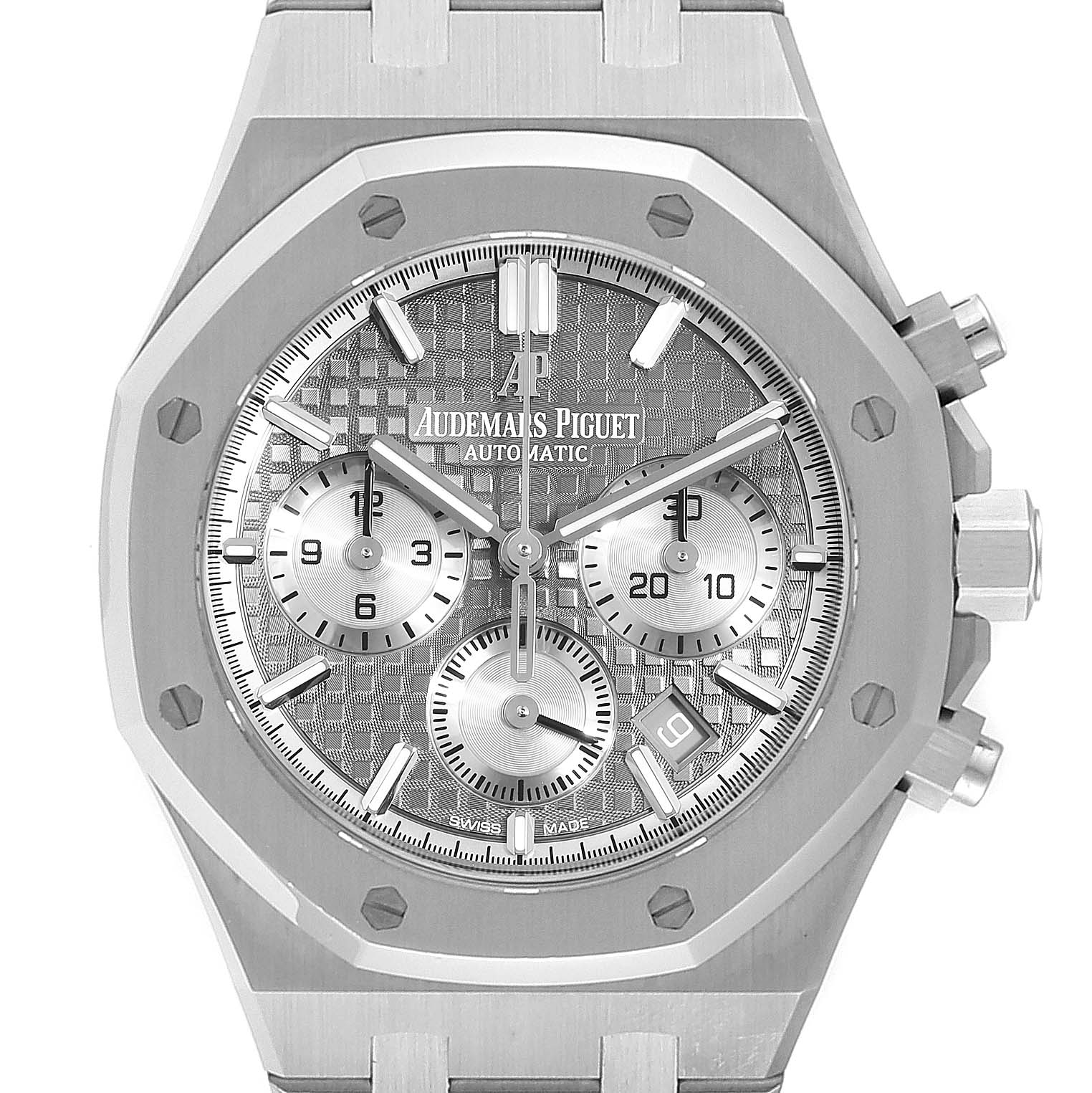 Audemars Piguet Royal Oak 38mm Chronograph Mens Watch 26315ST Box Card