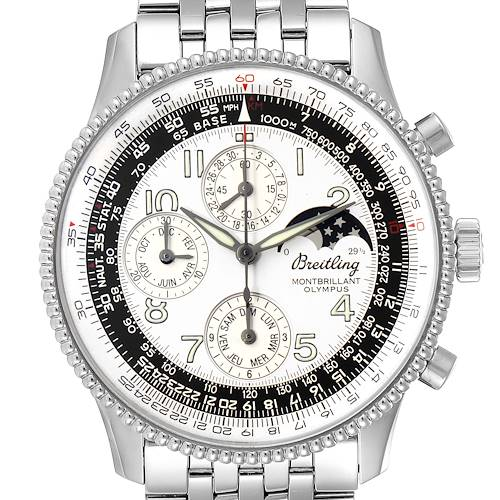 Photo of Breitling Navitimer Montbrilliant Olympus Chronograph Watch A19350 Box Papers