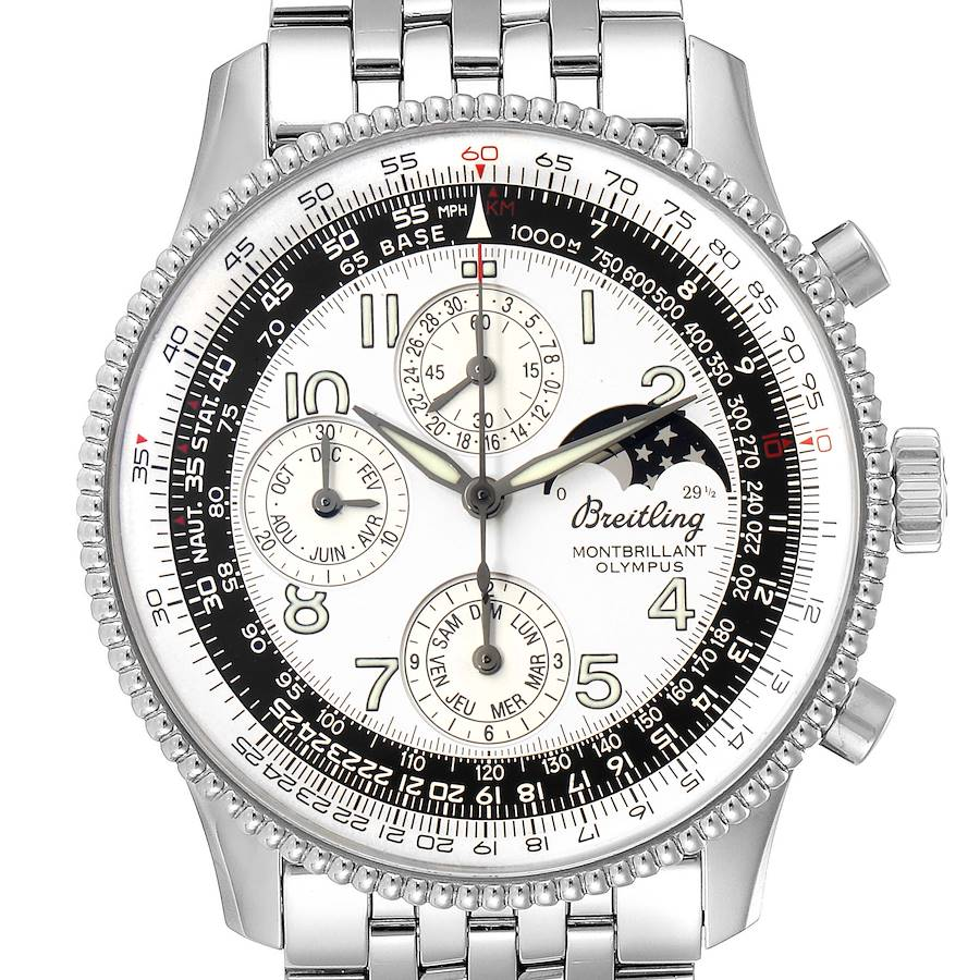 Breitling Navitimer Montbrillant Olympus Chronograph Watch A19350 Box Papers SwissWatchExpo