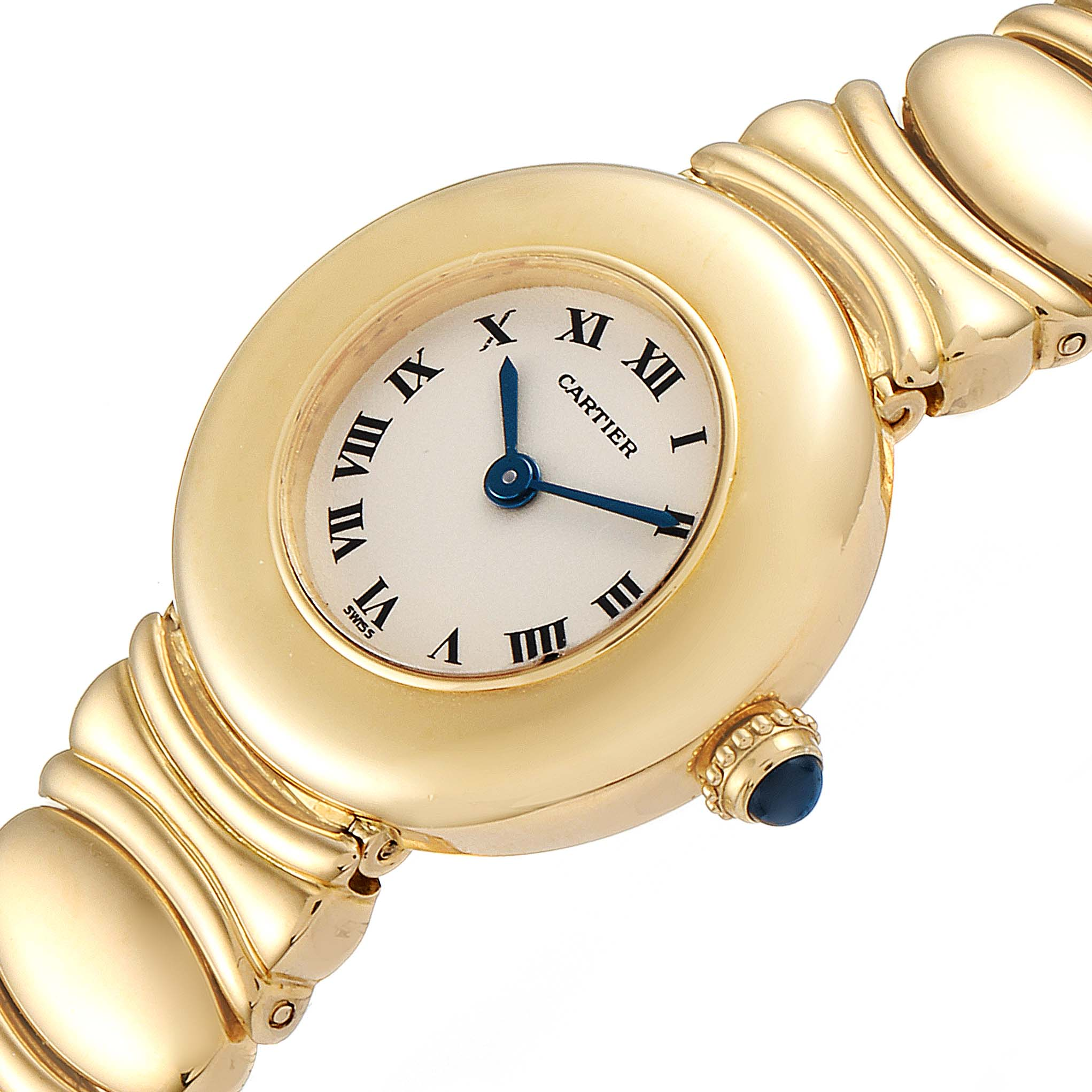 Cartier Colisee 18K Yellow Gold Silver Dial Ladies Watch SwissWatchExpo