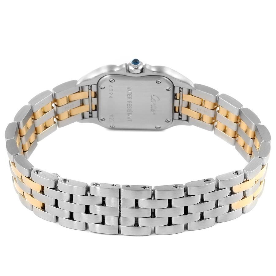 Cartier Panthere Ladies Steel Yellow Gold 2 Row Ladies Watch W25029B6 SwissWatchExpo