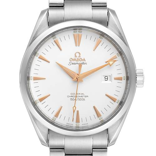 Photo of Omega Seamaster Aqua Terra Silver Dial Steel Mens Watch 2502.34.00